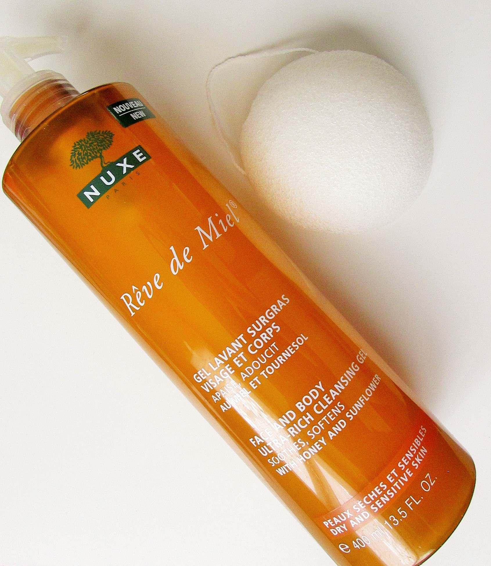 save off 0bd8e 82333 eponge-konjac-itineraire-beaute-nuxe-gel-lavant-surgras-